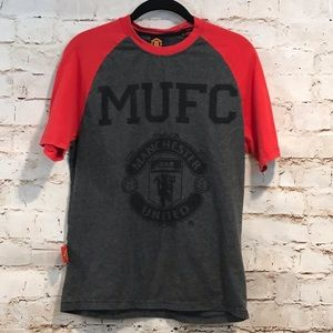 Manchester United Gray T-Shirt Boys XL